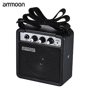 Ammoon amplificador de altavoz para guitarra acústica/eléctrica ukelele alta sensibilidad MINI 5 Watt 9