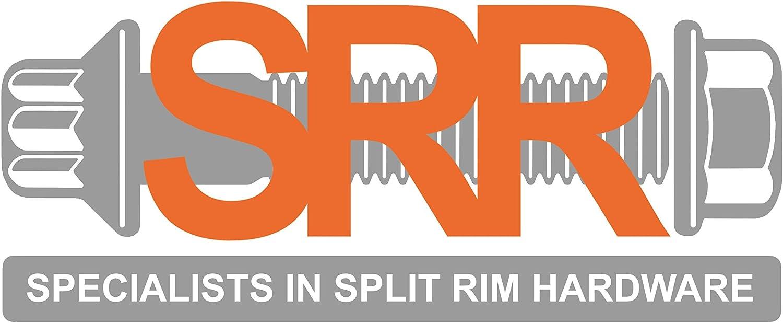 SRR Hardware Wellenschliff Split Rand Muttern M8/CCW HRE iforged rotiform Arbeit Rollen Zink vergoldet