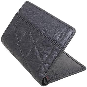 34e4cf913a01 Oakley Mens Leathers Slim Wallet One Size Jet Black: Amazon.in: Bags ...