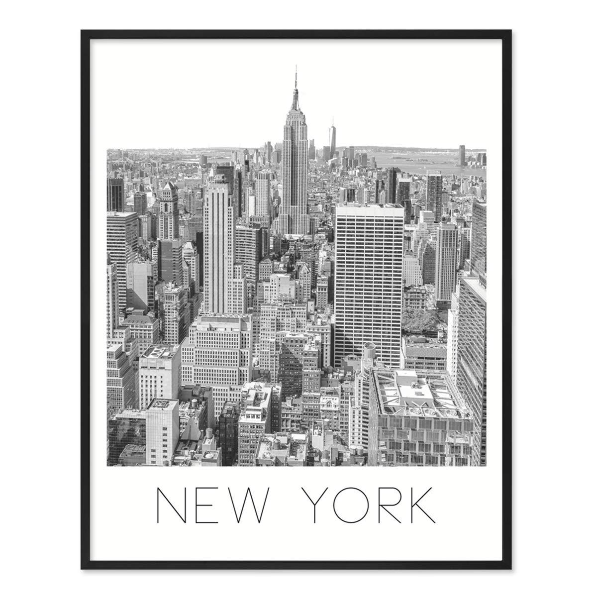 PHOTOLINI Poster mit Bilderrahmen Schwarz \'New York\' 40x50 cm ...