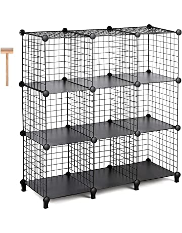 b4fd109a0 TomCare Cube Storage 9-Cube Metal Wire Cube Storage Storage Cubes Shelves  Cube Closet Organizer
