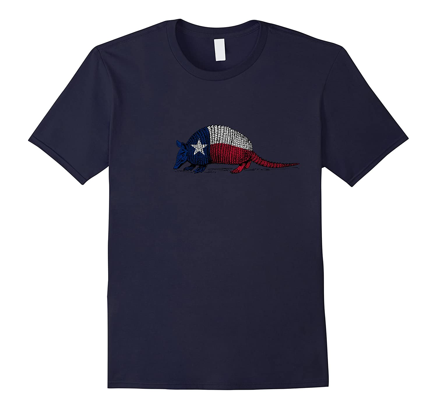 Armadillo Texas Flag T Shirt-FL