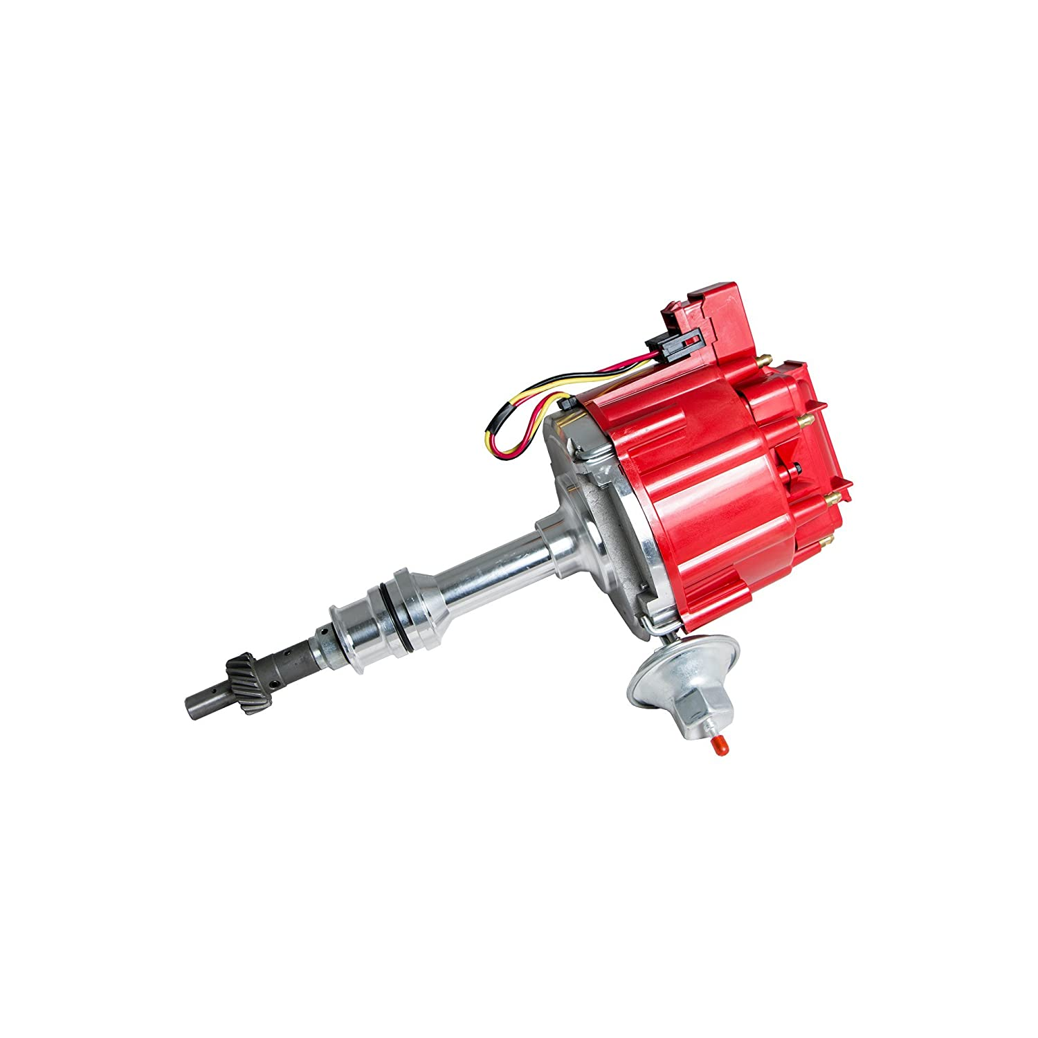 Top Street Performance JM6510R HEI Distributor with Red Cap 50K Volt Coil