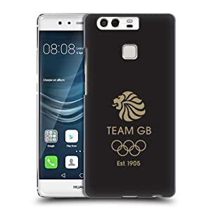 Official Team GB British Olympic Association EST Gold on Black Logo Hard Back Case for Huawei P9