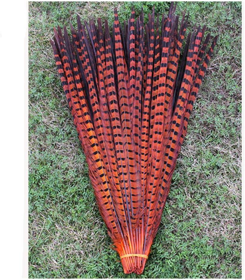 fiestas de cumplea/ños MZ080 Red, 40-45cm BLEVET 20PCS plumas de cola de fais/án naturales 40-45cm decoraci/ón para boda