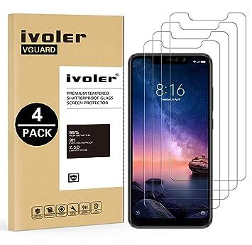 iVoler [4 Unidades] Protector de Pantalla para Xiaomi Redmi Note 6 ...