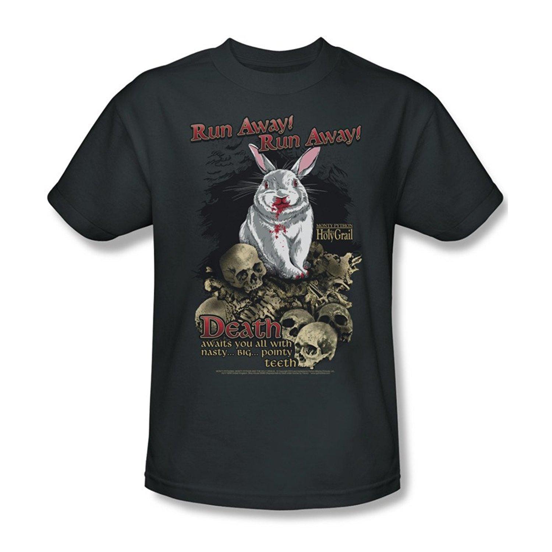 5f70451df Amazon.com: Sun-Tshirt Monty Python Run Away Adult Funny T-Shirt Tee:  Clothing