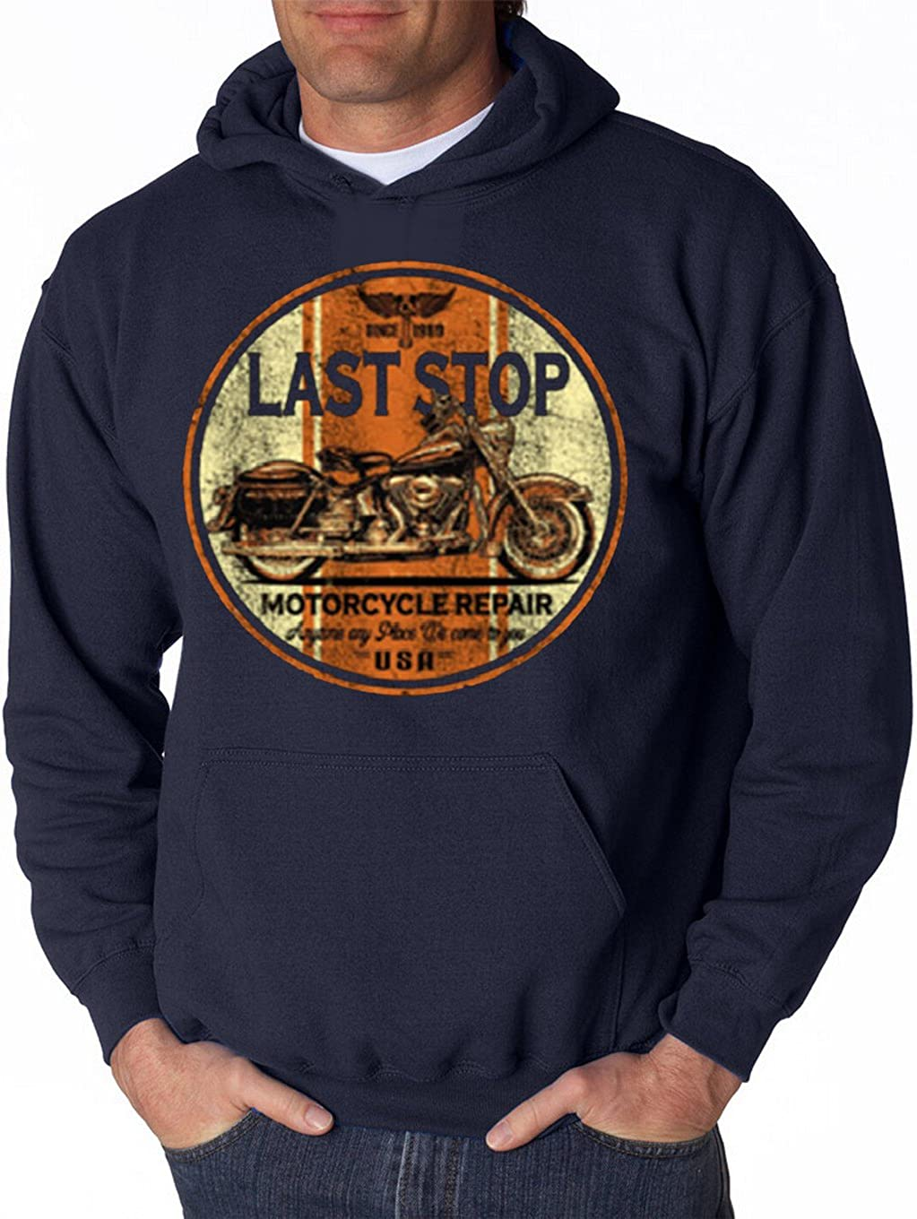HOT ROD RACING THUNDER ROAD MOTOR OIL BIKER RIDER SKULL SWEAT SHIRT