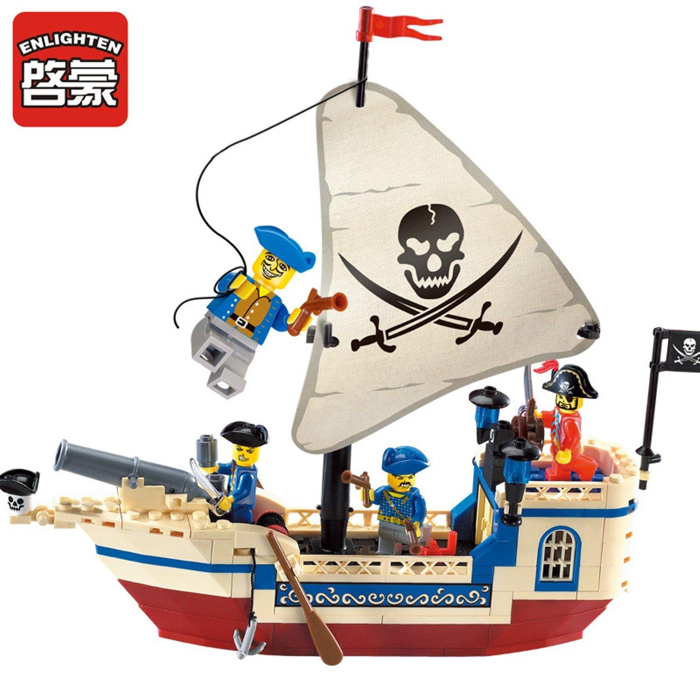 Enlighten Pirates Series Pearl Building Blocks Sets For Chrilden diy toys Compatible Legofigure
