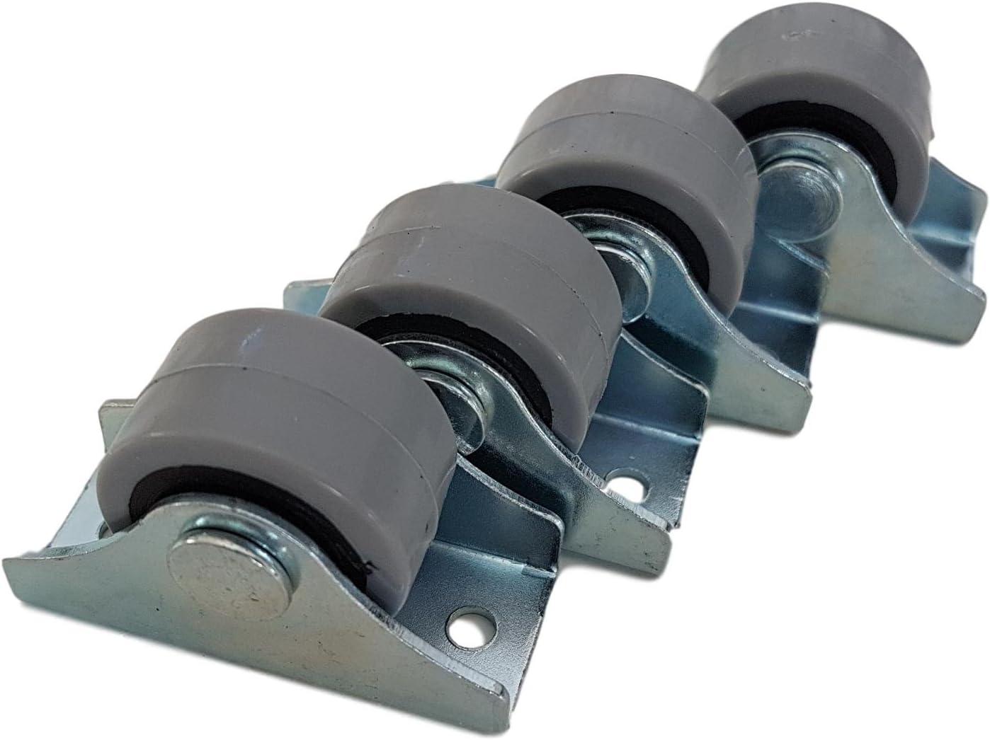 Juego de ruedas giratorias, rueda compuesta por dos partes, ruedas de goma y plástico, con placa metálica, ruedas para mobiliario, electrodomésticos y pequeños equipos, ruedas pequeñas de 25 mm