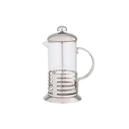 Axentia 223545 - Cafetera de émbolo (1000 ml, vidrio y acero ...