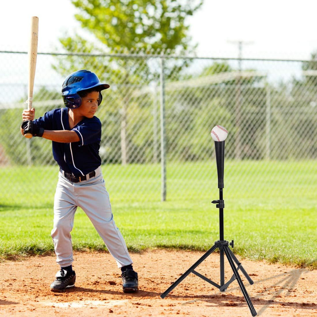 Batting Tee Baseball Softball Portable Training Sport Equipment Travel Athletic