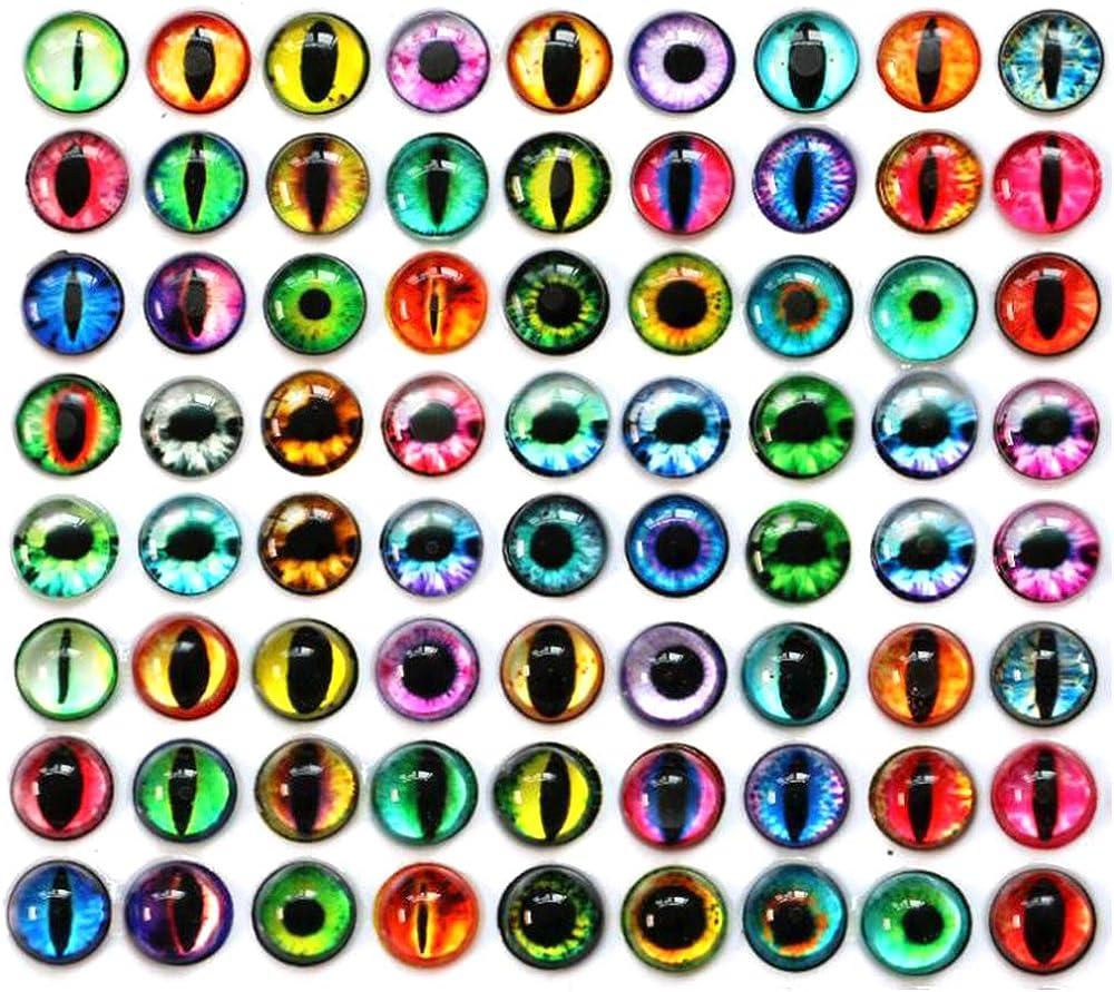 Mixed Dragon Eye Glass Cabochons Dôme chat yeux Fabrication de Bijoux Artisanat-HD041