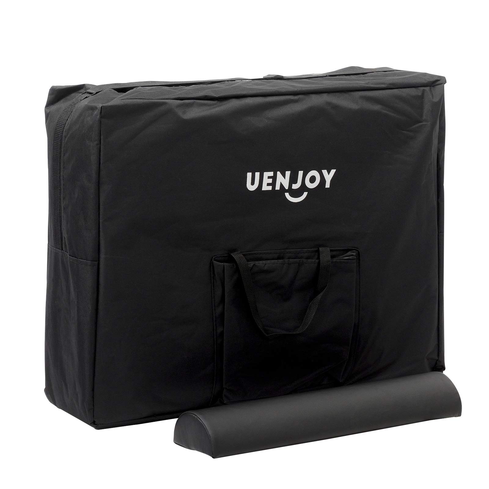 Uenjoy Massage Table 84'' Professional Folding Massage Bed Deluxe Model with Extra Width, Ultra-thick Sponge, PU Leather Surface & Additional Accessories, 2 Fold, Black by Uenjoy (Image #10)