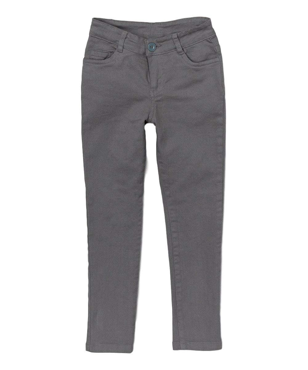 Big Girl's Grey Skinny Uniform Pants Size 16