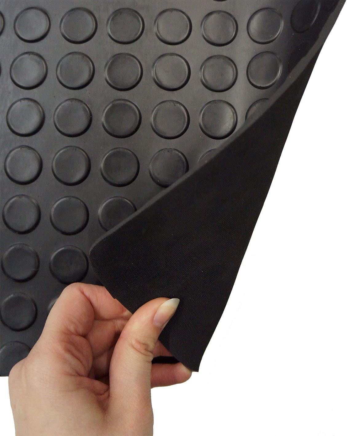 - No Fixing Option Fully Tailored Black Penny Pattern 4mm Rubber Van Mats for T6 Premier Products 2015 - Date