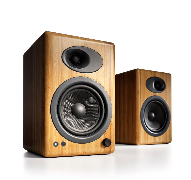 Audioengine A5+ Powered Desktop Speaker (Pr) - Bamboo w/DS2 Desktop Speaker Stands Bundle by Audioengine (Image #2)