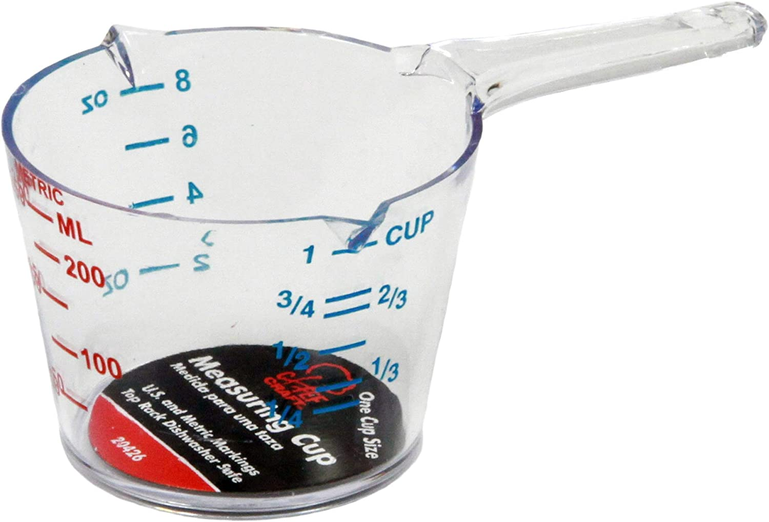 Chef Craft Measuring Cup-1Cup Size 20426, Clear