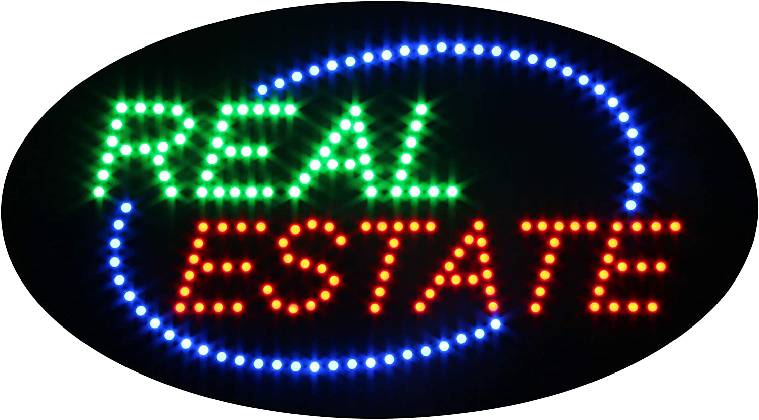Super Bright Electric Advertising Display Board for Broker Realtor Properties Business Shop Store Window Home Bedroom Decor HSO1407 Real Estate Open Sign for Business