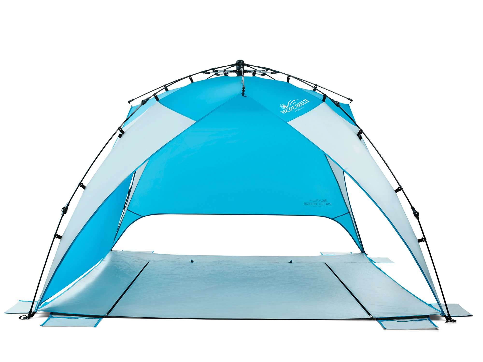 Pacific Breeze Easy Setup Beach Tent Deluxe Xl Bsa Soar