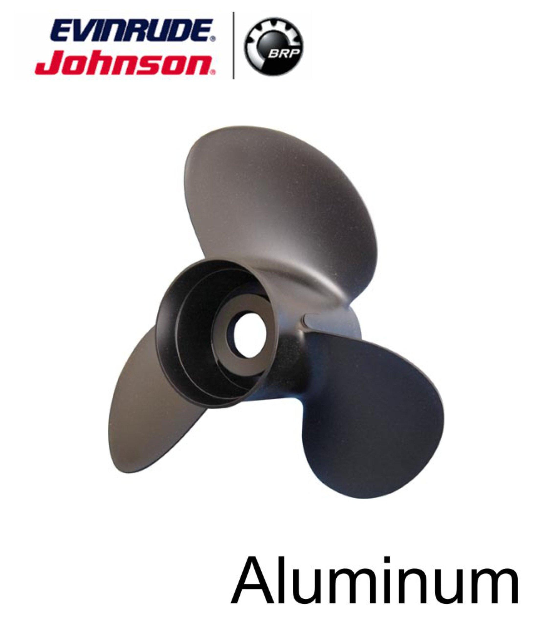 Johnson Evinrude E-Tec 3 Blade Aluminum V-4 Prop Propeller 13 1/4'' x 17'' 765183 by BRP