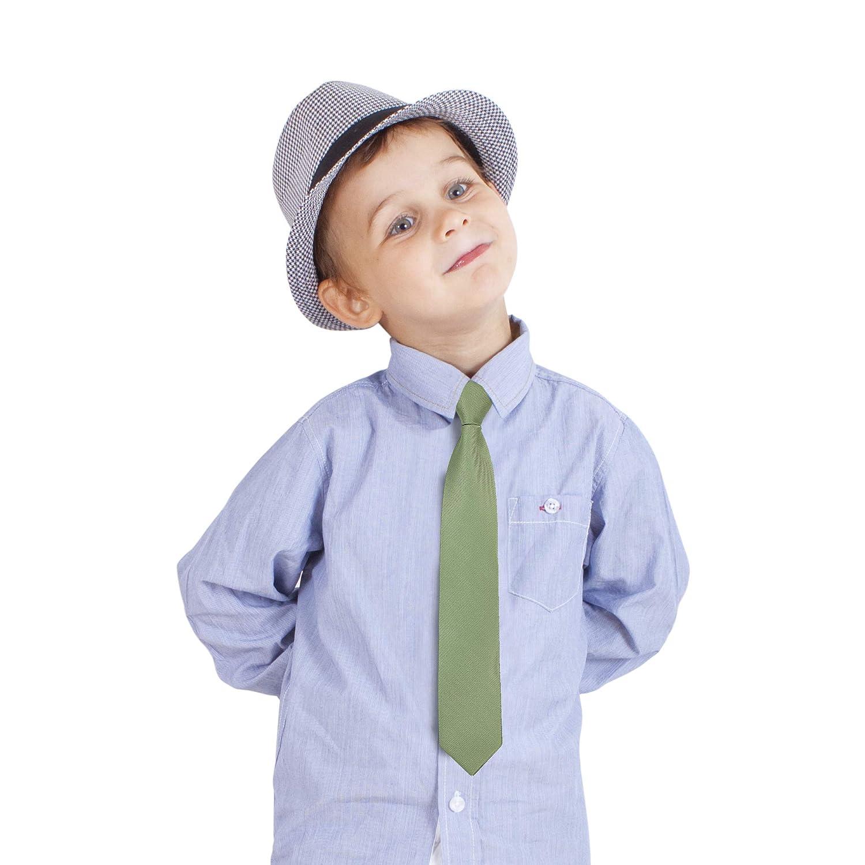Ties For Boys Neckties For Kids Formal Wedding Graduation School Uniforms Zipper Pre-Tied Woven Boys Tie