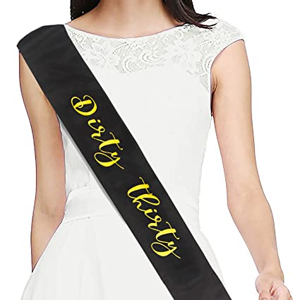 Image Unavailable Not Available For Color Dirty Thirty Satin Sash