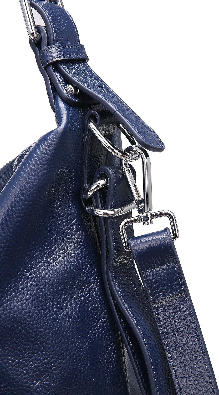 Heshe Vintage Womens Leather Handbags Tote Bag Top Handle