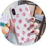 かわいい イチゴiPhone適用X携帯電話ケース6 sソフトシリコーンセットピンク8/7plusオールインiPhone適用 x sMAX 新保護カバーx rケース,iPhone適用X/Xsソフトリリーフピンクリトルチキン