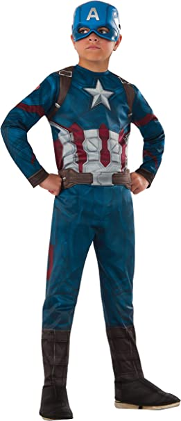Avengers- Capitán América Classic Civil War Disfraz para niños, M ...