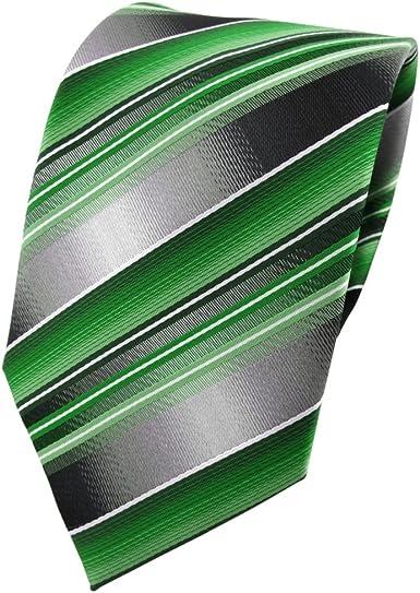 TigerTie - Corbata - verde verde esmeralda plata antracita gris ...