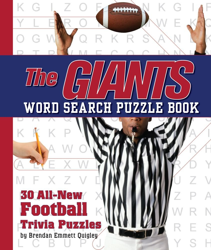 Read Online The Giants Word Search Book: 30 All New Football Trivia Puzzles PDF