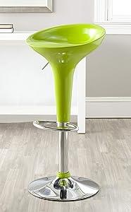 Safavieh Home Collection Sacha Lime Green Adjustable Swivel Gas Lift 23.2-31.7-inch Bar Stool