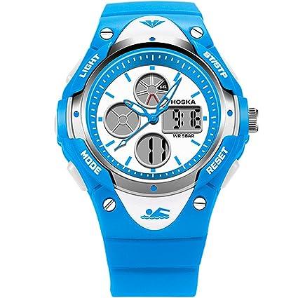 oumosi Kids multifunción resistente al agua deporte relojes LED Digital relojes de pulsera