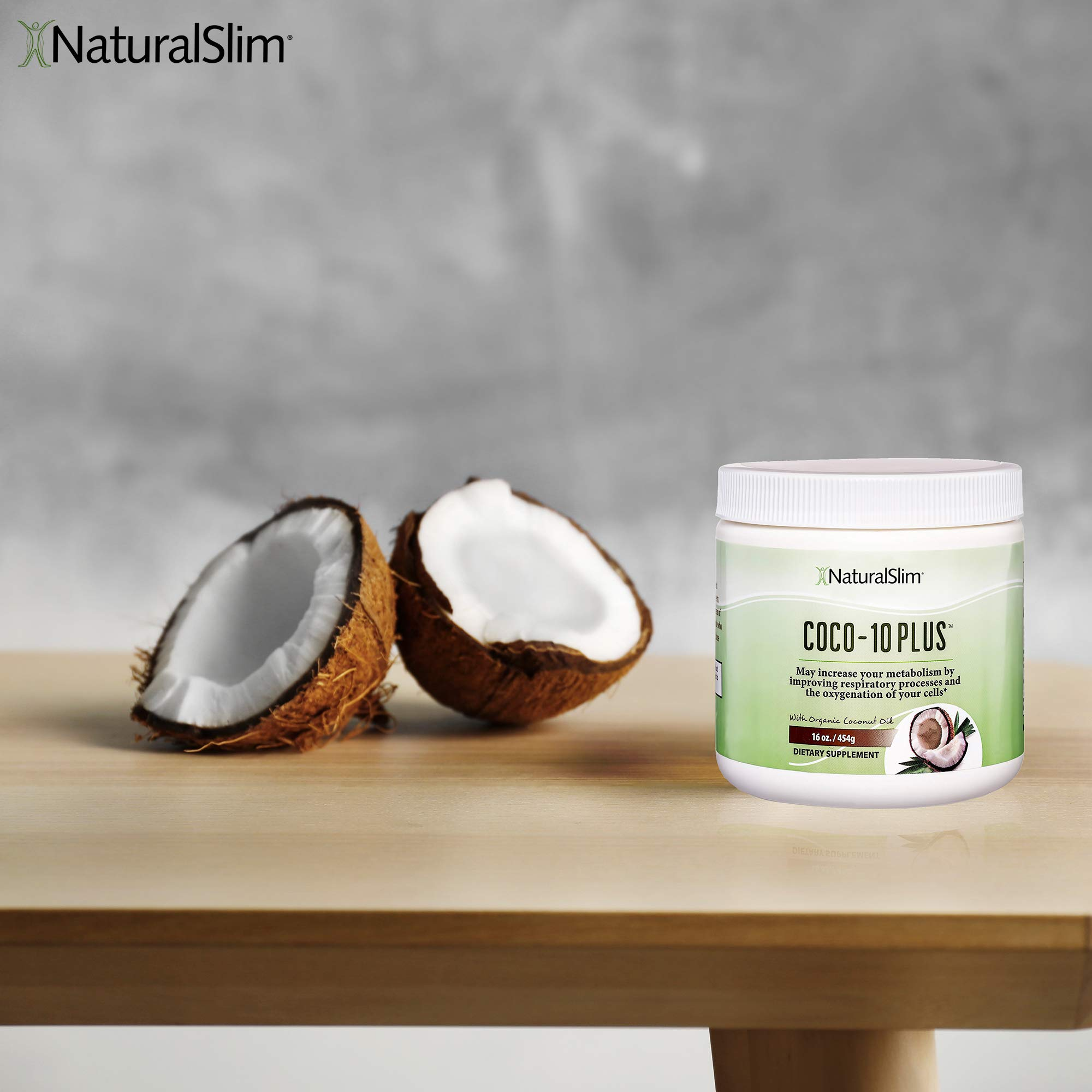 NaturalSlim''Super'' Organic Coconut Oil with CoQ10, Formulated by Obesity and Metabolism Specialist to Improve Energy Levels and Assist with Weight Loss - Natural Fat Burner to Any Diet Attempt 16 Oz by RelaxSlim  (Image #3)