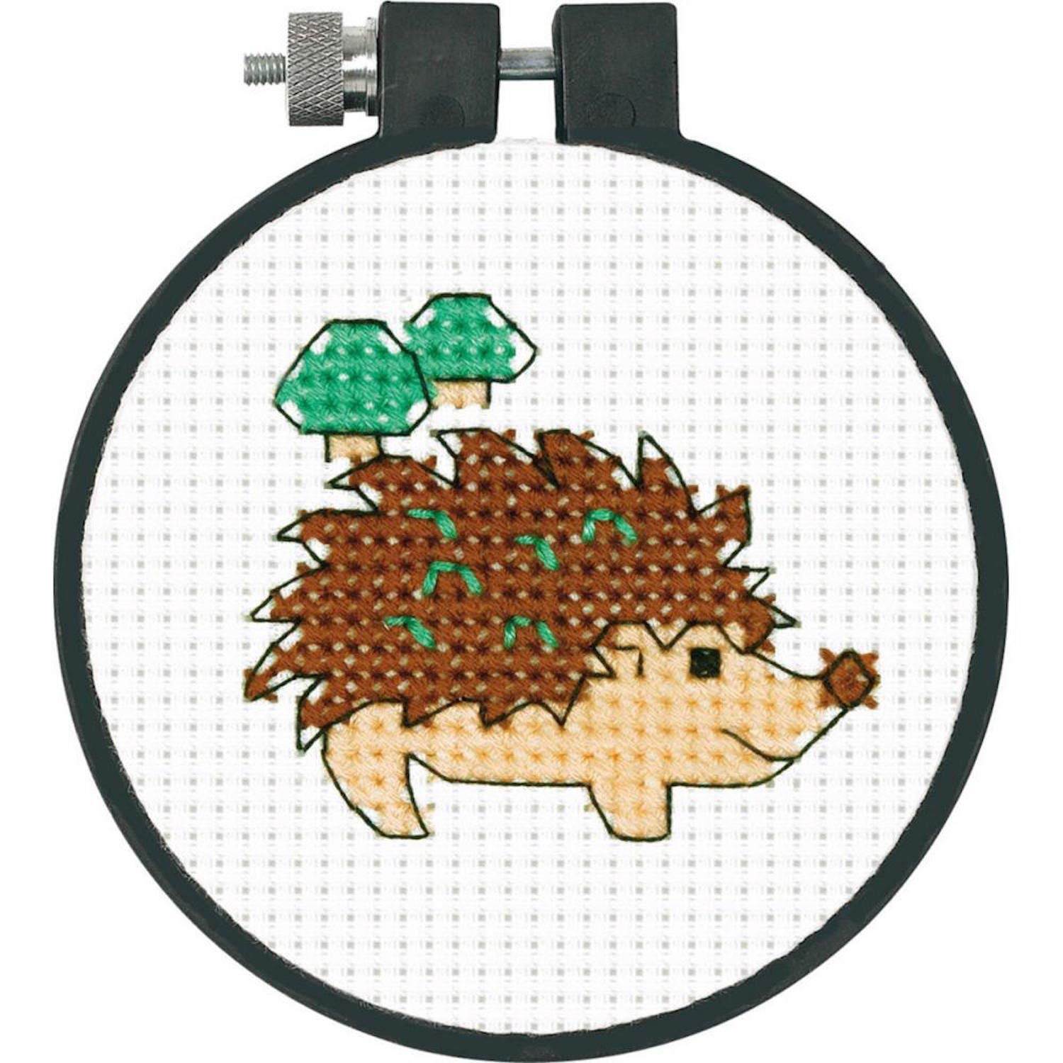 Hedgehog Dimensions KL1247A 1890 25 55 BKL Crafts Kids Learn a Craft Counted Cross Stitch
