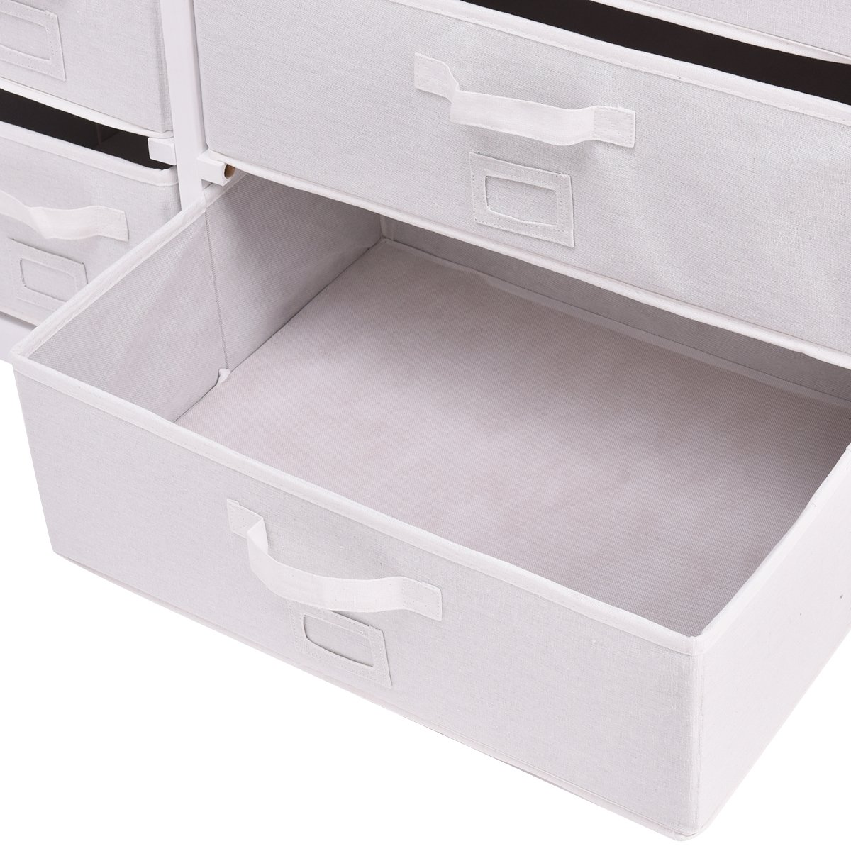 Costzon Baby Changing Table Infant Diaper Nursery Station w/6 Basket Storage Drawers (White) by Costzon (Image #6)