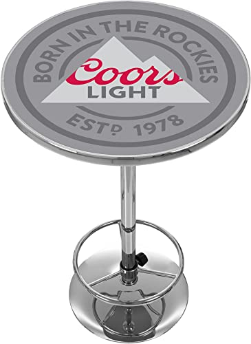 Trademark Gameroom Coors Lights Chrome Pub Table