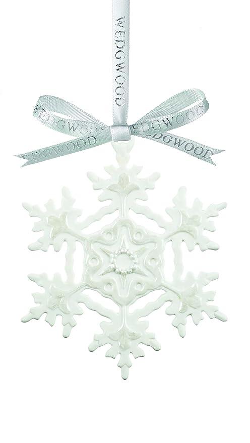 Wedgwood Christmas Ornaments.Wedgwood White Snowflake Christmas Ornament