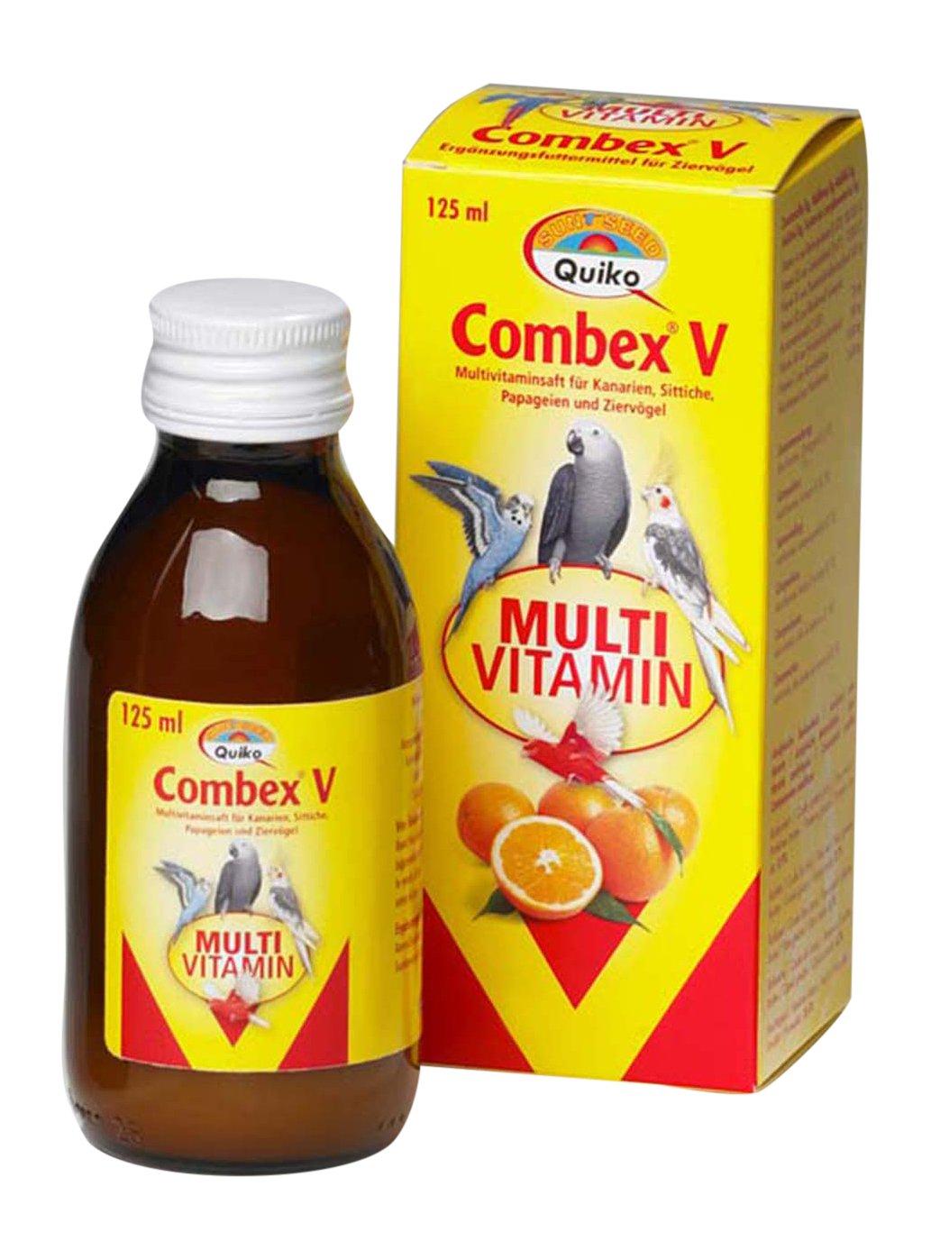 Quiko Combex V - Multivitaminsaft für Kanarien, Sittiche, Papageien und Ziervögel Papageien und Ziervögel 1er Pack (1 x 500 ml) 200224