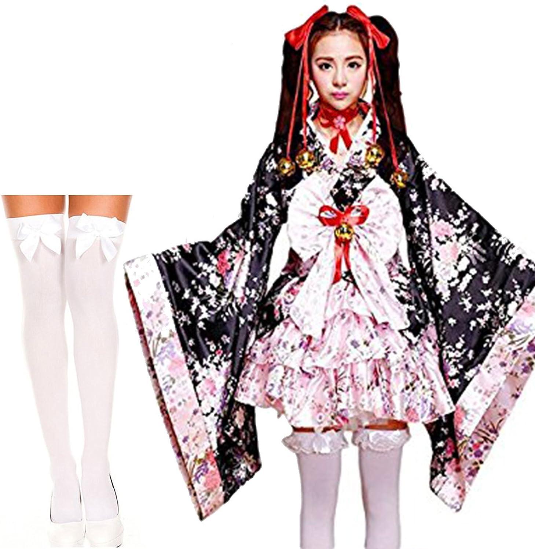 Japanese Traditional Costume Lolita Kimono Dress Costume