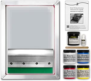 Jacquard Professional Screen Printing Kit - Dazzling Opaque Color Ability - Maximum Durability - DIY Easy and Fun to Use! (E-Commerce Packaging)
