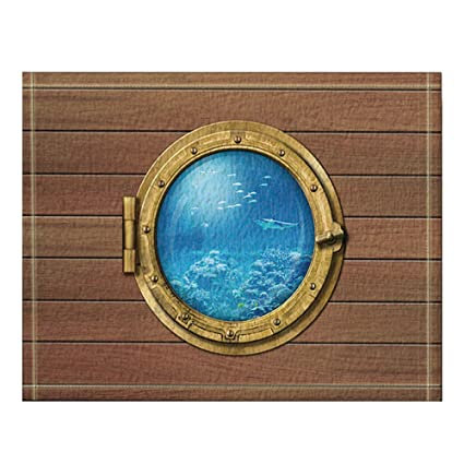 NYMB Bathyscaph Or Submarine Porthole Underwater Bath Rugs, Non Slip Floor  Entryways Outdoor Indoor
