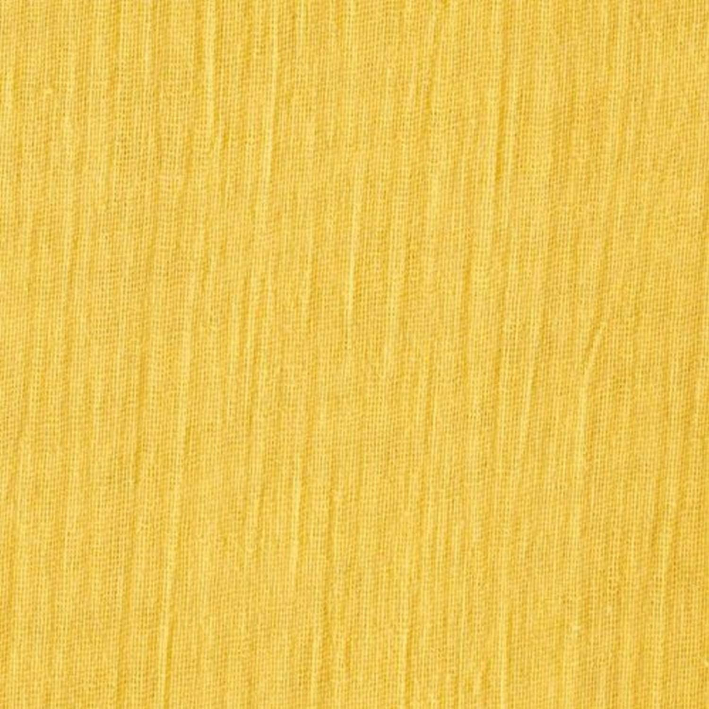 mustard color Fabric coupon double gauze chiffon cotton