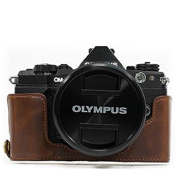 MegaGear MG967 Estuche para cámara fotográfica - Funda (Funda, Olympus, OM-D E-M5 Mark II, Marrón)