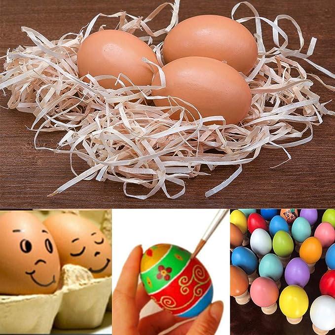 SUJING Huevo de Pascua de Sujeción, Adornos de Madera sin terminar ...