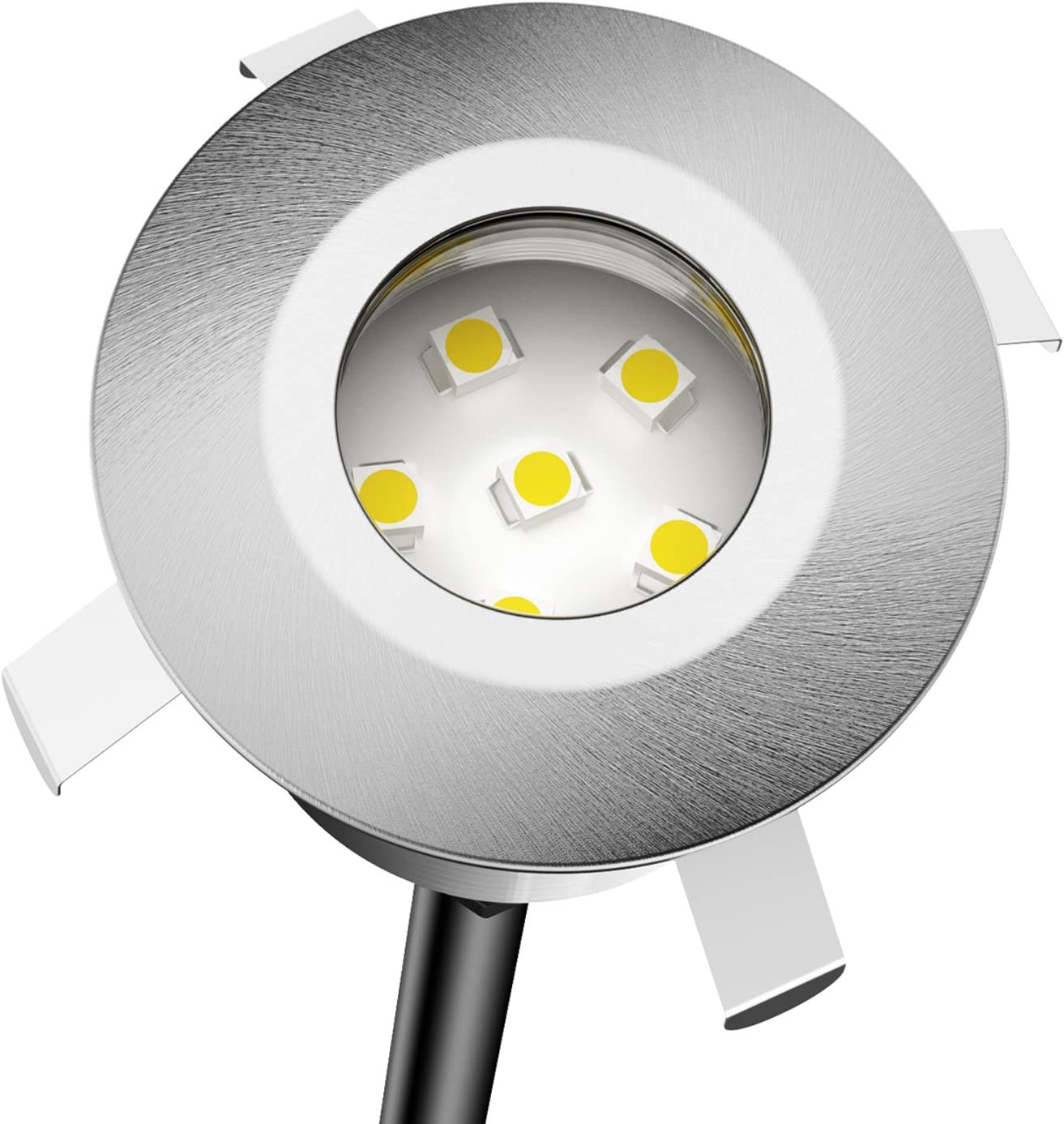 Parlat LED Recessed Ground Light Atria For Outdoor, Cold White, Each 14lm, IP65, 40mm Ø, BS, Set Of 12 Set of 8