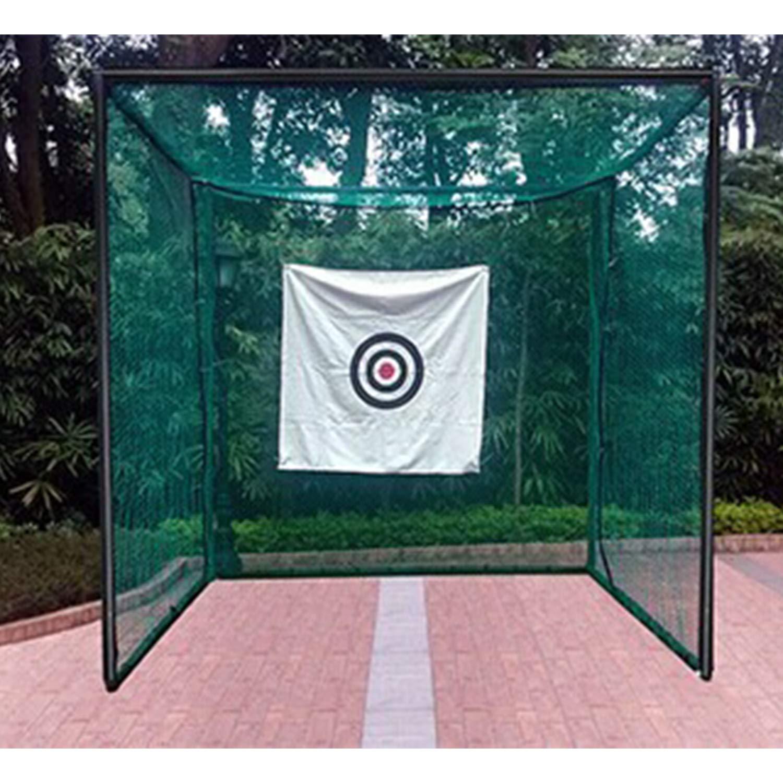 BODY STRENTH ゴルフ ヒッティング ケージ ターゲット ネット 10フィートx10フィート 高耐久 インドア アウトドア B07MH7N14L Green (without Foam Pipe Protection Cover)