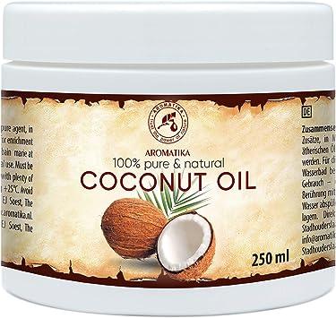 Aceite de Coco 250ml - Aceite de Coco Nucifera - Indonesia - 100% Puro y Natural - Prensado en