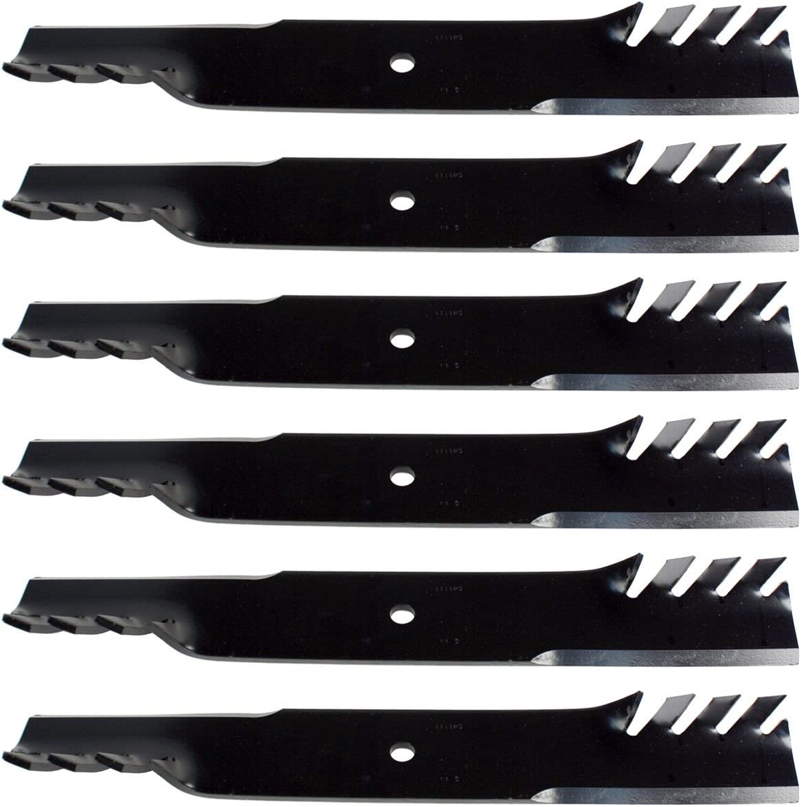 """USA Mower Blades® Toothed for Scag 481712 481708 48304 483318 61/"""" Deck 9"""
